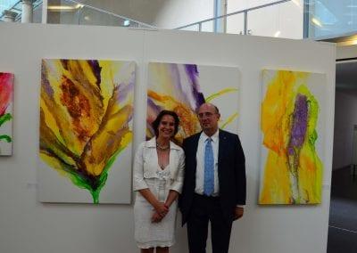 Mit dem Italienischen Konsul Filippo Scammacca del Mugo