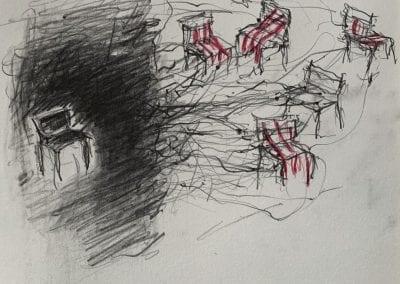 Bleistiftzeichnung mit Buntstift, Isolation