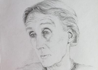Bleistiftzeichnung, Virginia Woolf
